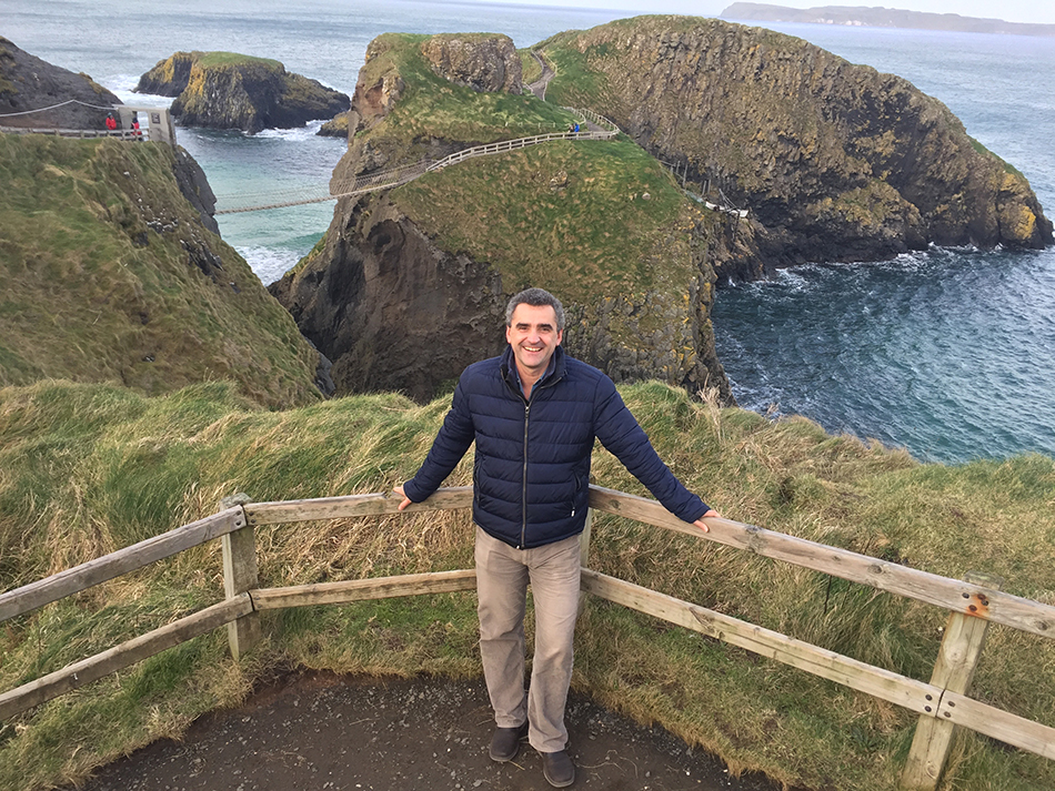 Carrick a Rede rope bridge Steve